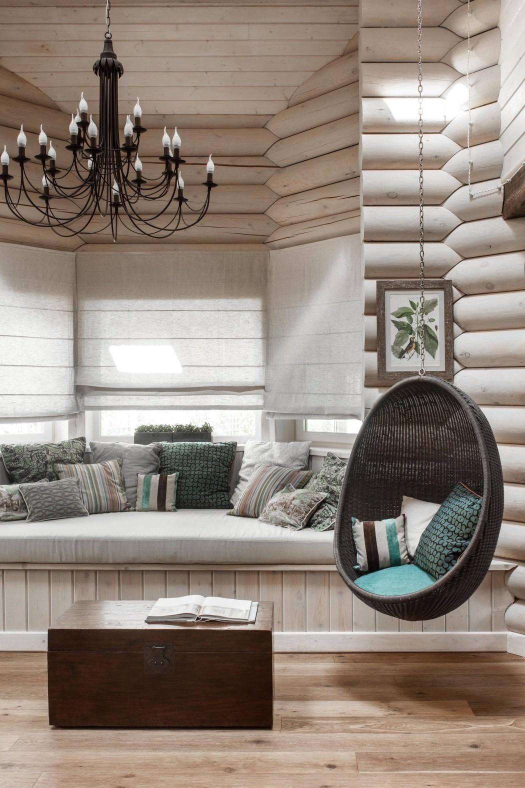 Дизайн дома из бруса внутри