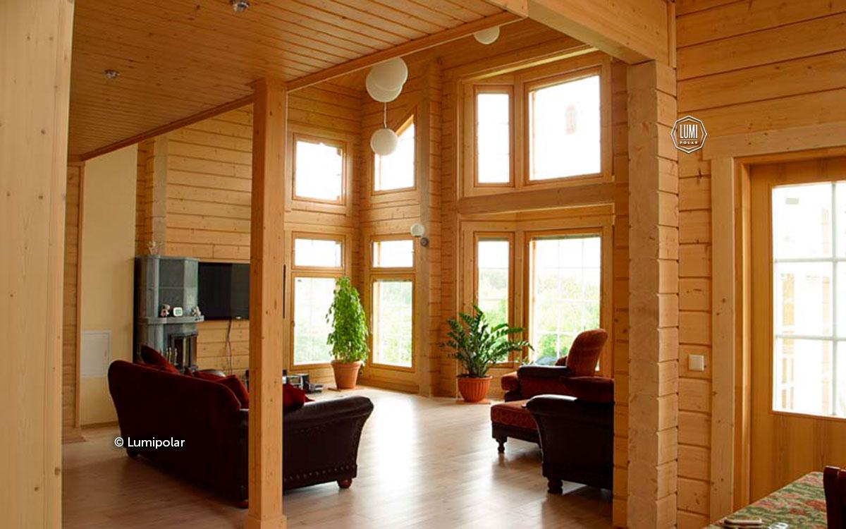 Дизайн деревянного дома из бруса