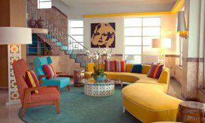 Дизайн квартиры в ретро стиле